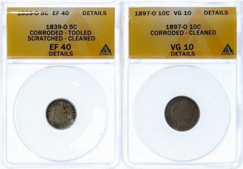 1897-O 10c VG-10 Details ANACS