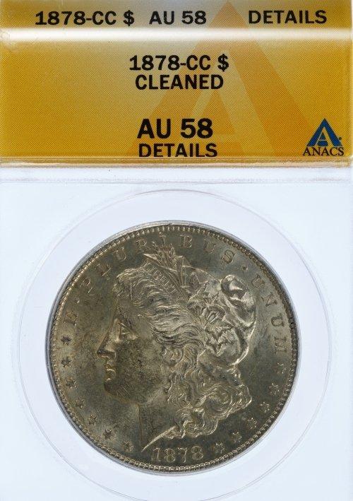 1878-CC $1 AU-58 Details ANACS