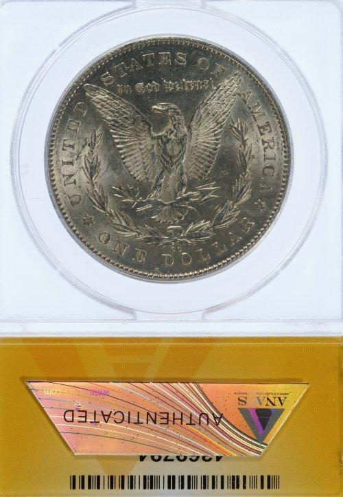 1878-CC $1 AU-58 Details ANACS - 2