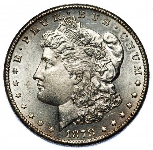 1878-S $1 Unc. Details