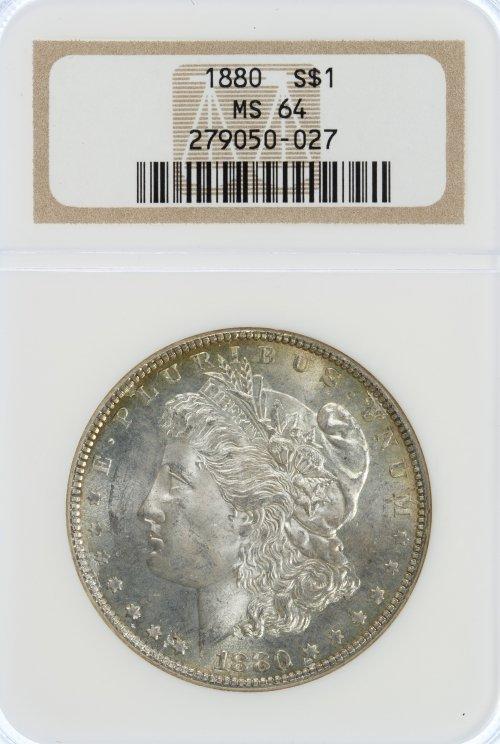 1880 $1 MS-64 NGC