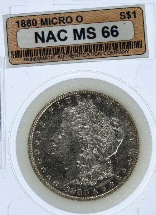 1880-O $1 'Micro O' Unc.