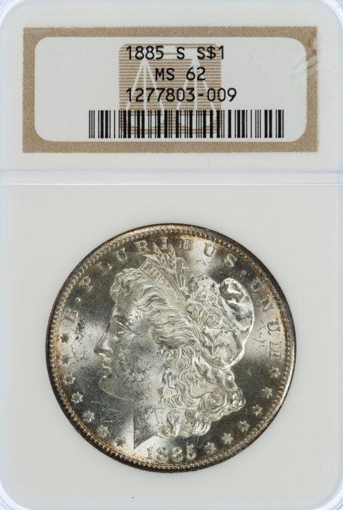 1885-S $1 MS-62 NGC