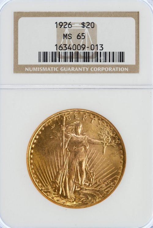 1926 $20 Gold MS-65 NGC