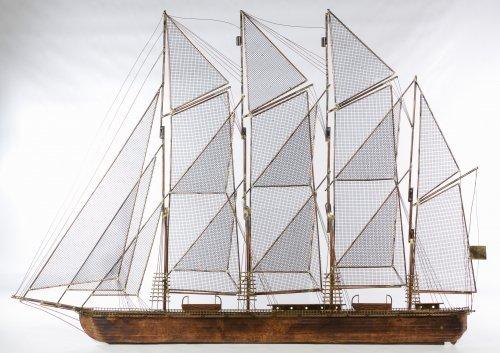 Curtis Jere (American, d.2008) 'Sailing Ship' Sculpture
