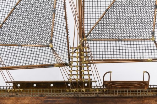 Curtis Jere (American, d.2008) 'Sailing Ship' Sculpture - 2