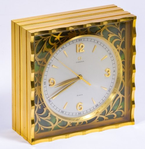 Omega Eight-Day Desk Clock