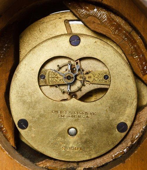Pine Mantel Clock by Chelsea Clock Co. - 6