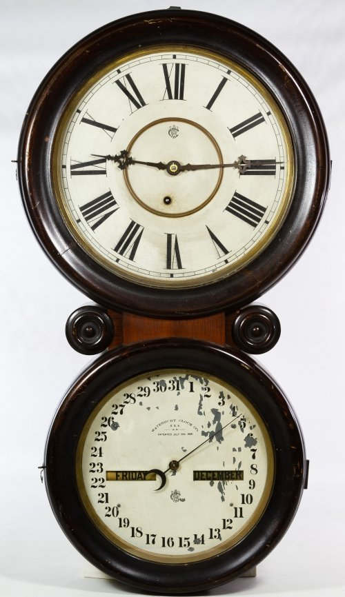 Waterbury Double Dial Calendar Wall Clock