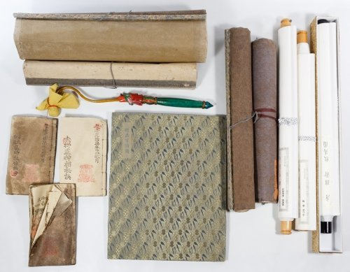 Asian Scroll and Book Assortment