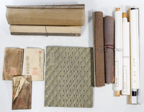 Asian Scroll and Book Assortment - 6