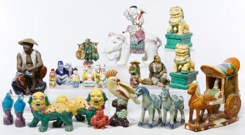 Asian Ceramic Figurine Assortment