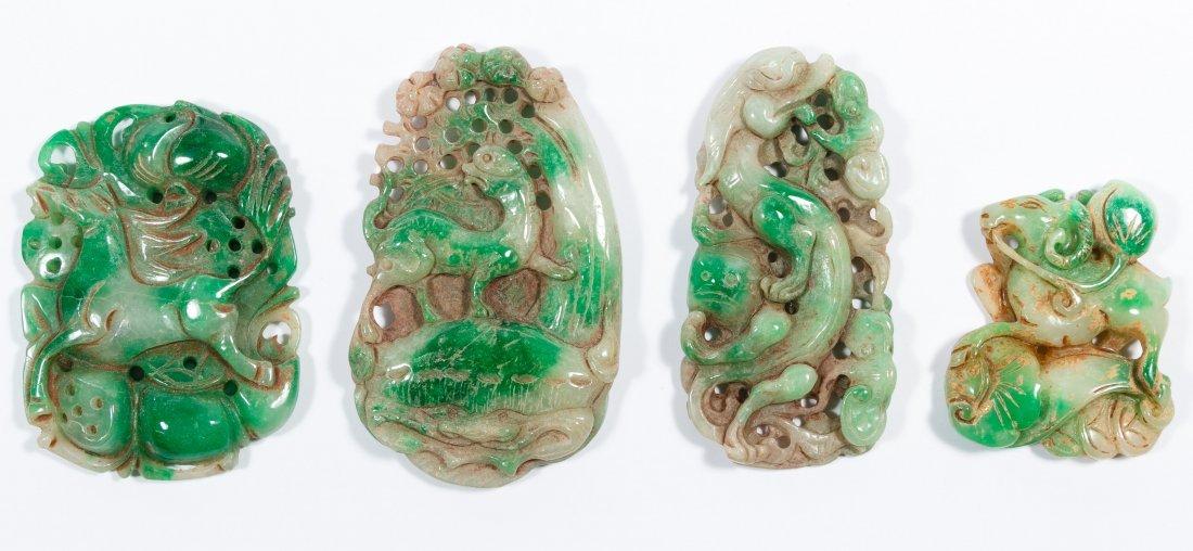 Asian Carved Jadeite Jade Hand Warmers
