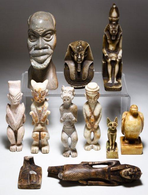 Carved Stone Figurines