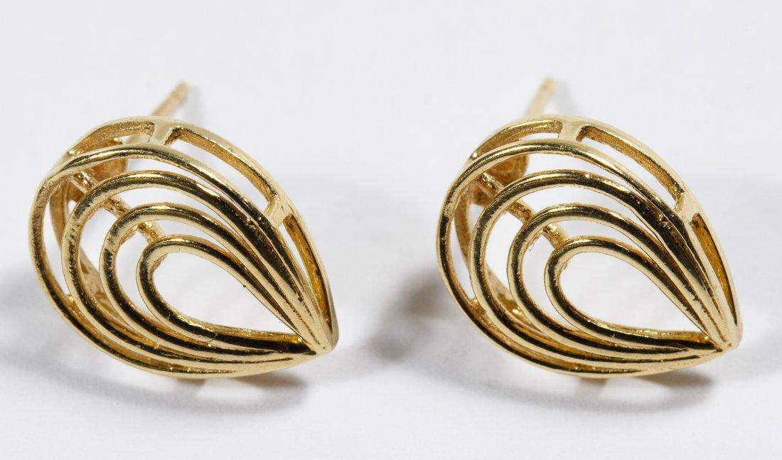 14k Gold Pierced Earrings