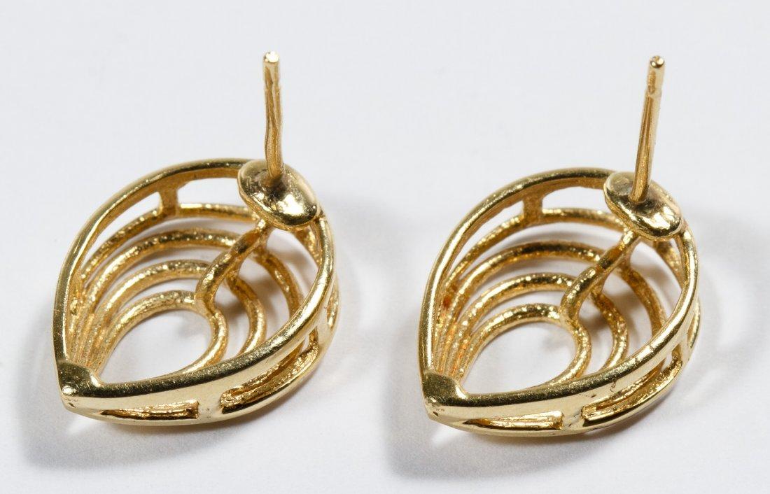 14k Gold Pierced Earrings - 2