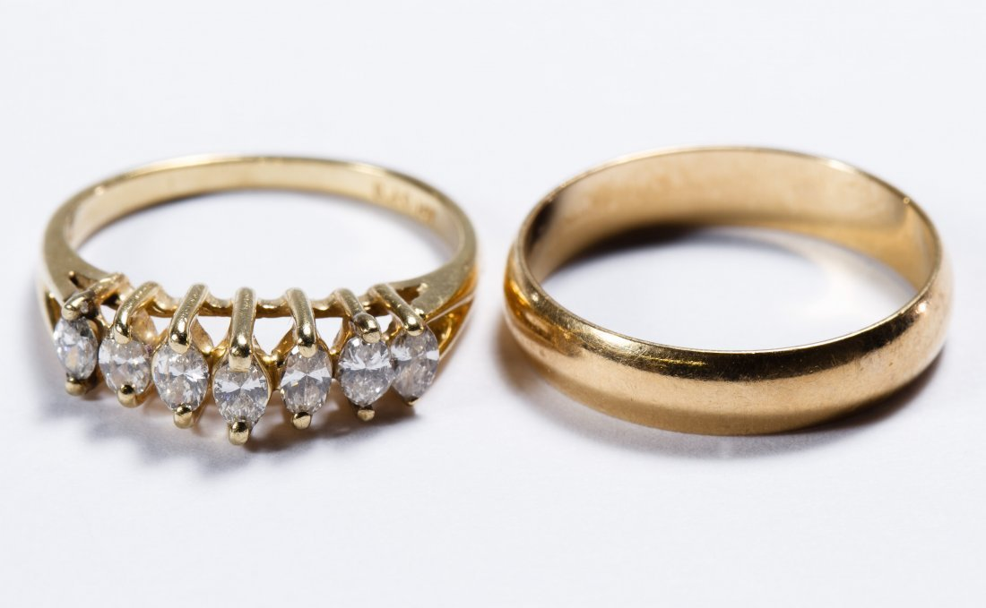 14k Gold and Diamond Rings