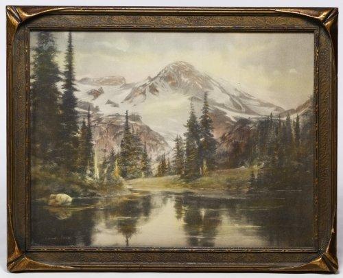 Adelaide Hiebel (American, 1879-1965) 'Mount Rainier'