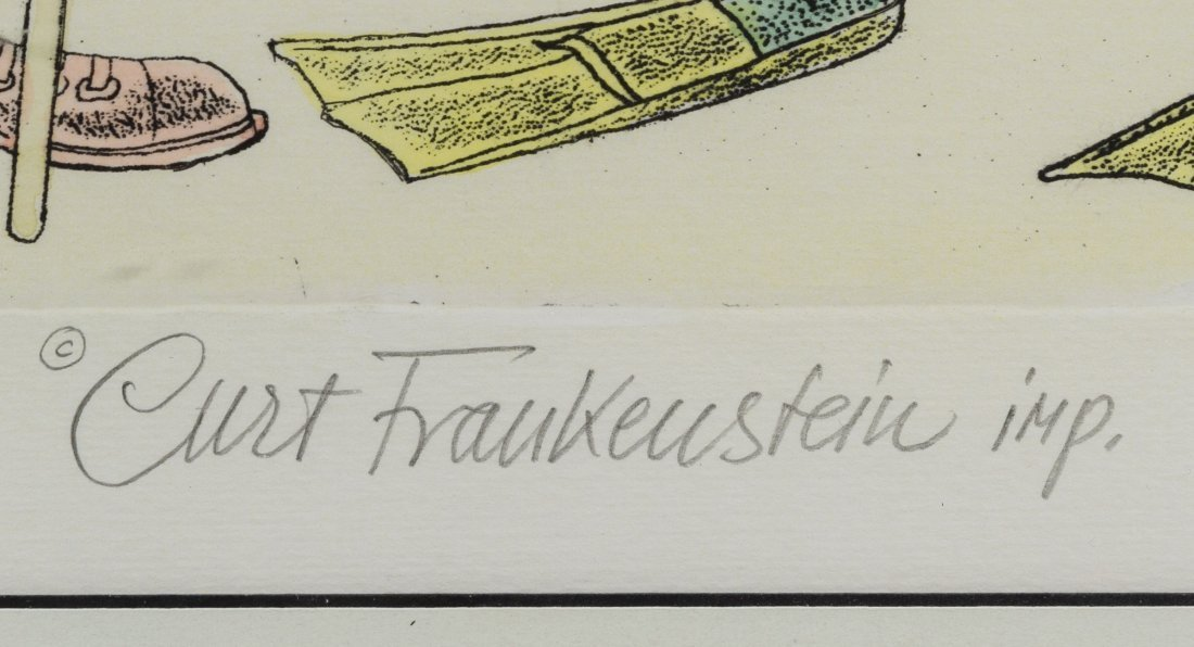 Curt Frankenstein (American, 1920-2009) Hand Colored - 2