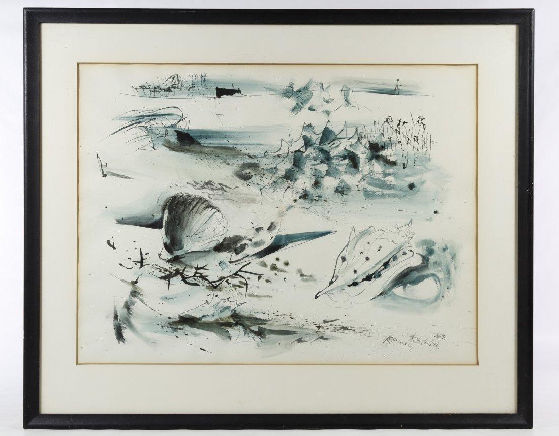 Rainey Bennett (American, 1907-1998) Watercolor on
