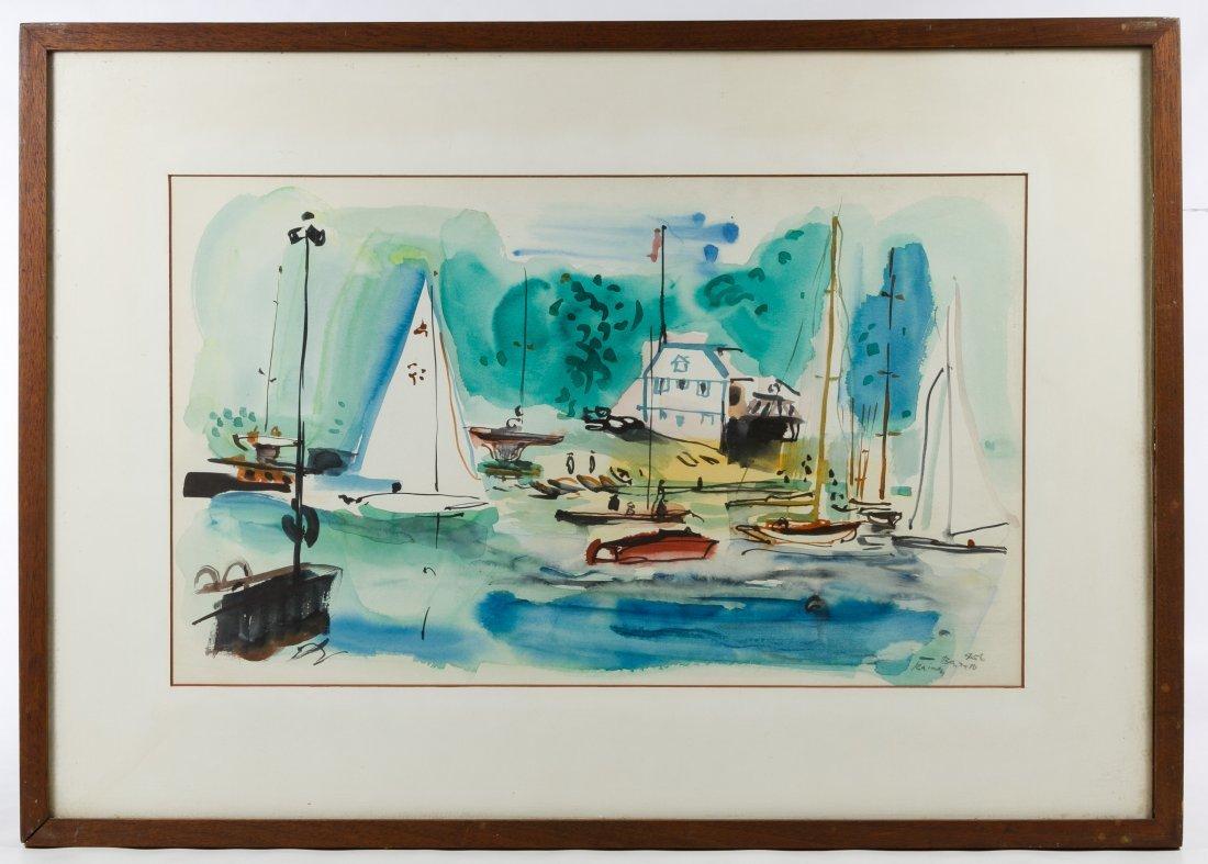 Rainey Bennett (American, 1907-1998) Watercolor on - 2