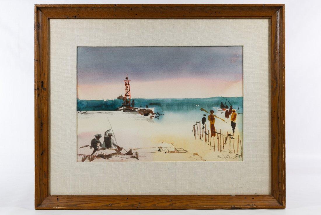 Rainey Bennett (American, 1907-1998) Watercolor on - 3