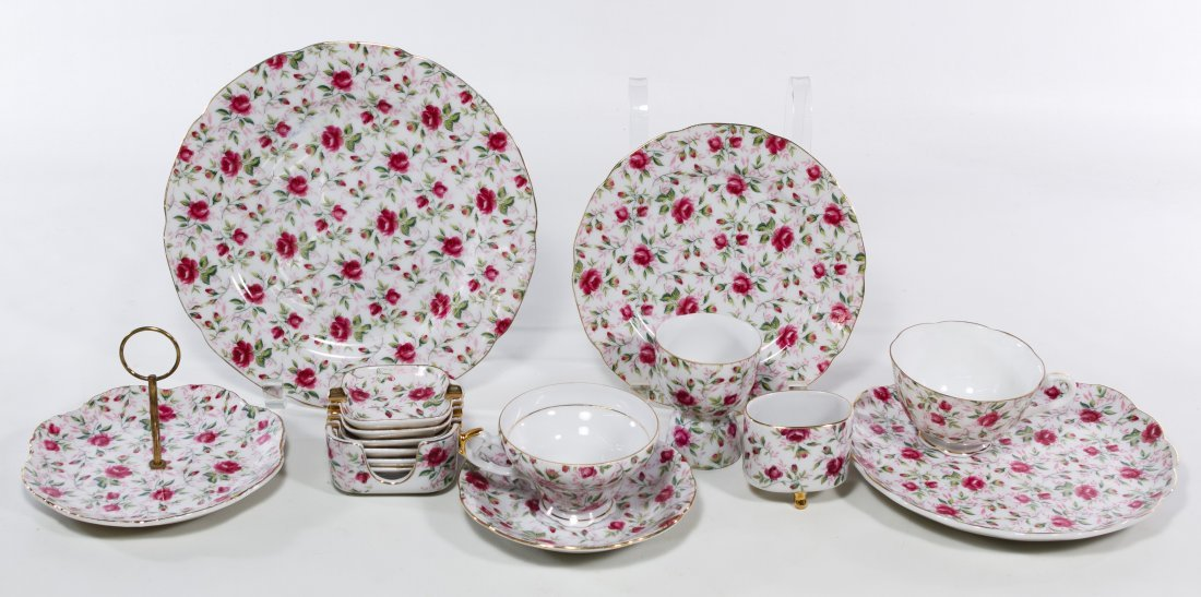 Lefton 'Rose Chintz' China Service