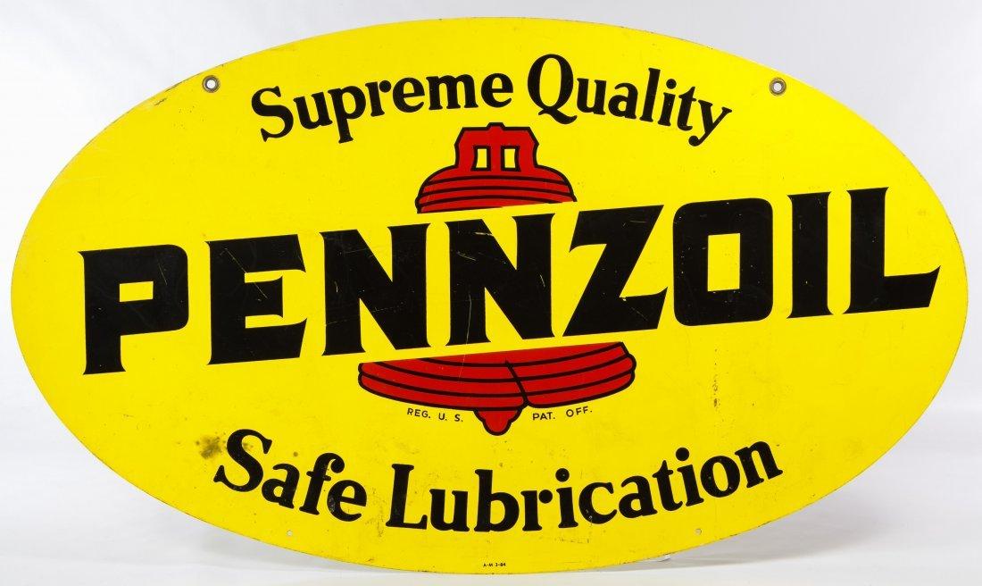 Metal 'Pennzoil' Advertising Sign