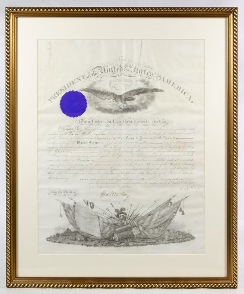 Rutherford B. Hayes Signed Presidential Military