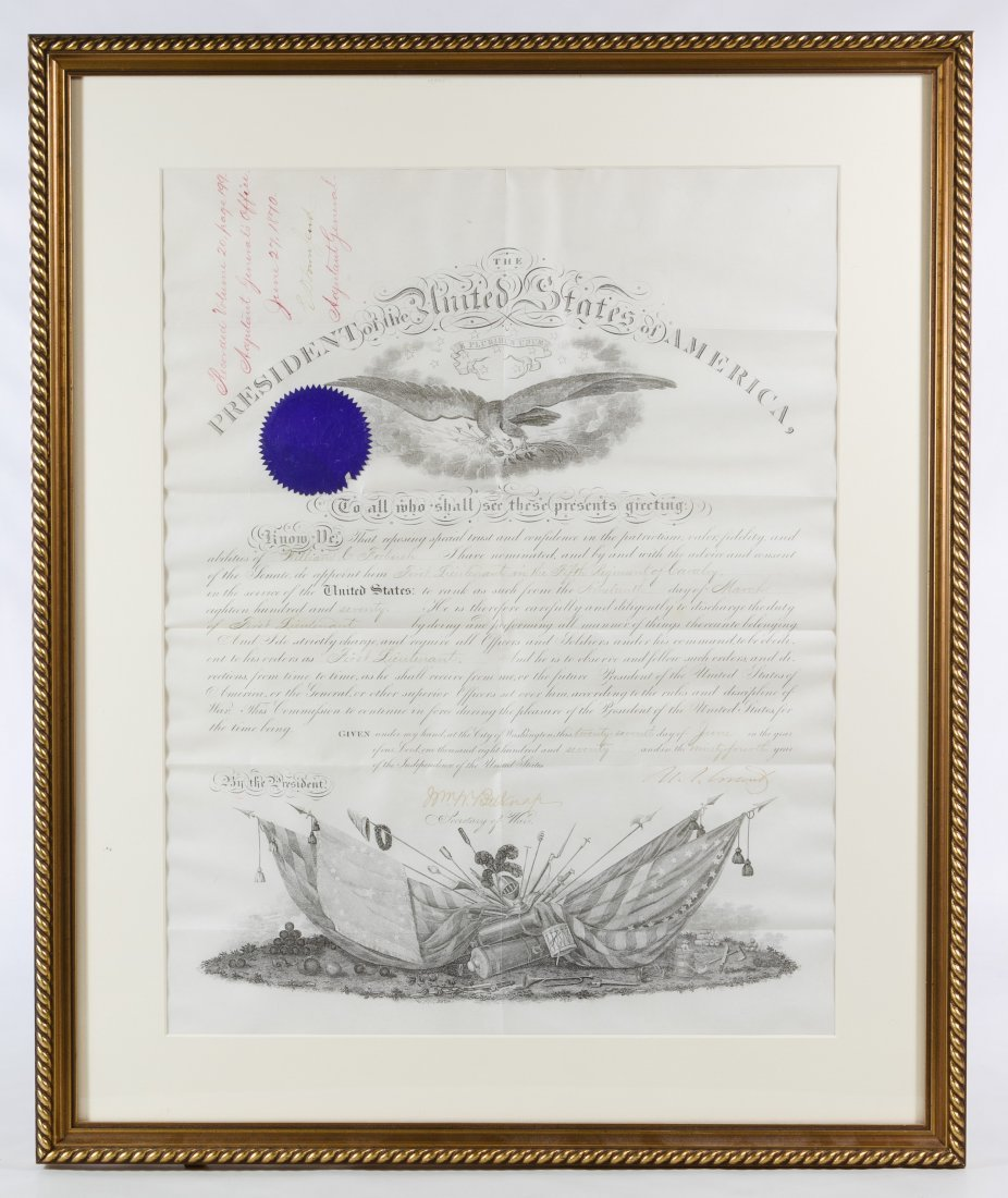 Ulysses S. Grant Signed Presidential Military