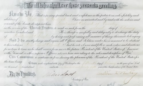 William McKinley Signed Presidential Military - 3