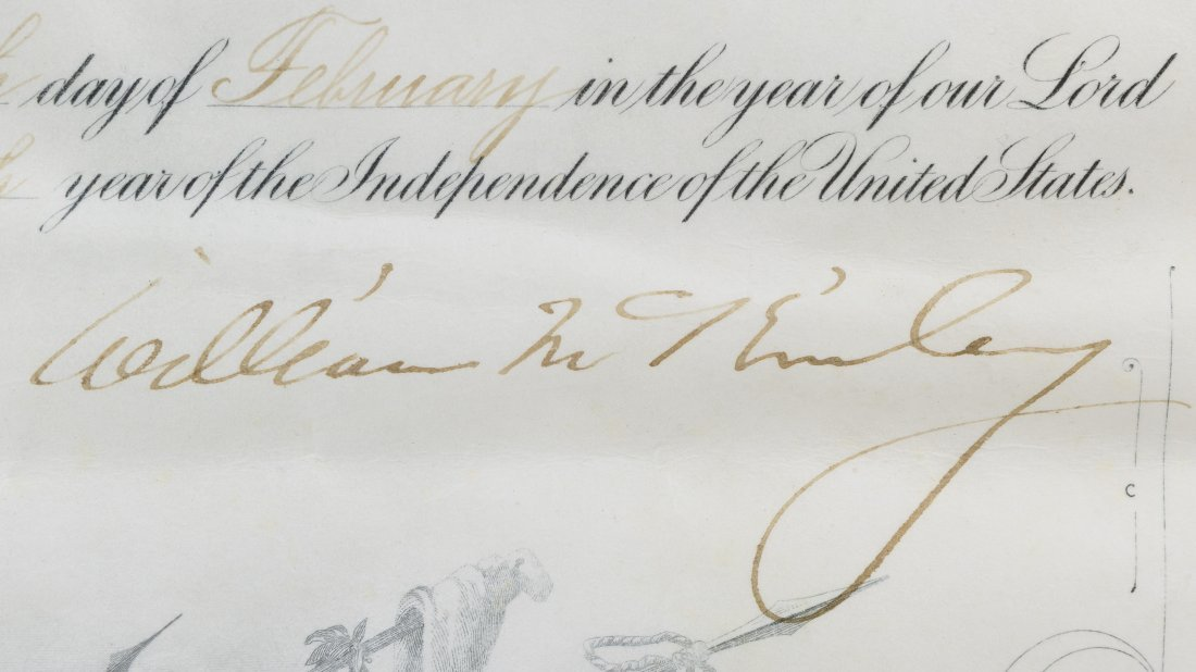 William McKinley Signed Presidential Military - 7