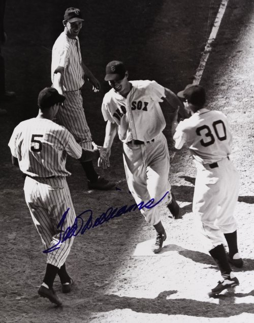 Ted Williams Autographed Framed Photograph - 2