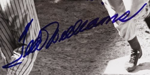 Ted Williams Autographed Framed Photograph - 4