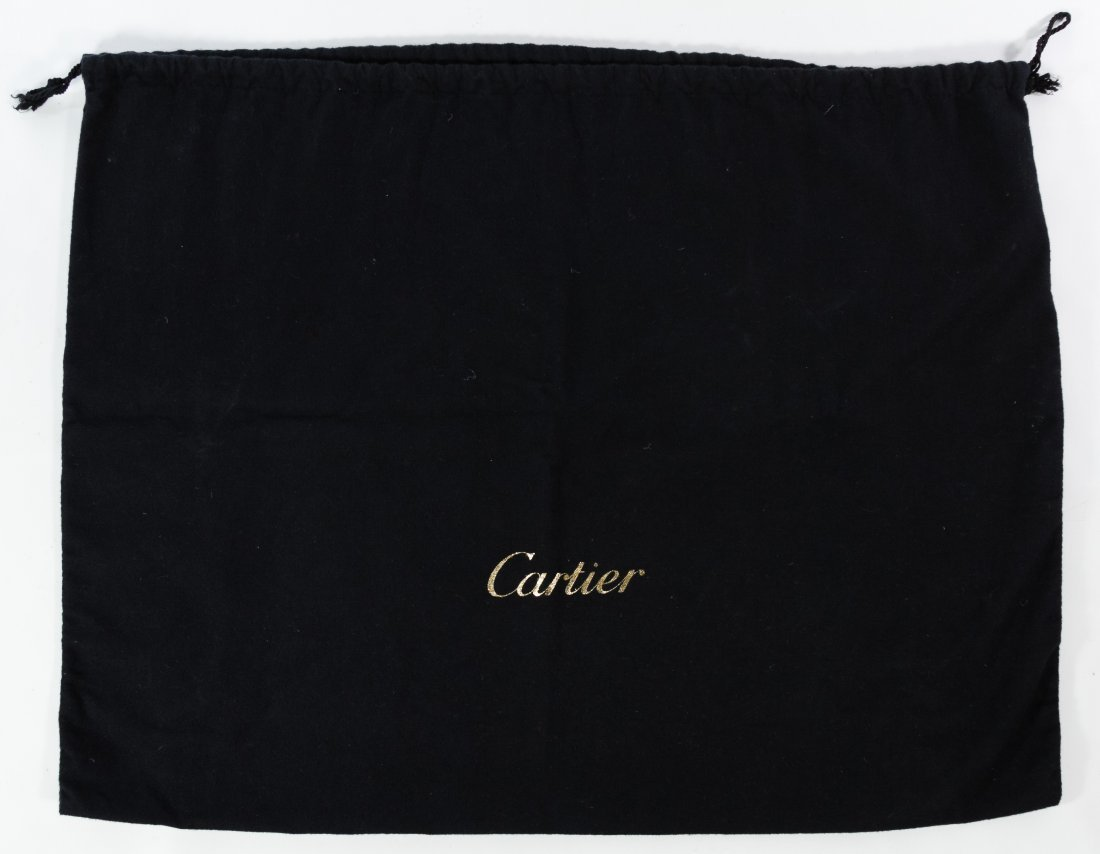 Cartier 'Marcello' Black Leather and Lizard Hand Bag - 10