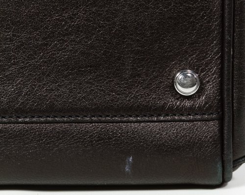 Cartier 'Marcello' Black Leather and Lizard Hand Bag - 9