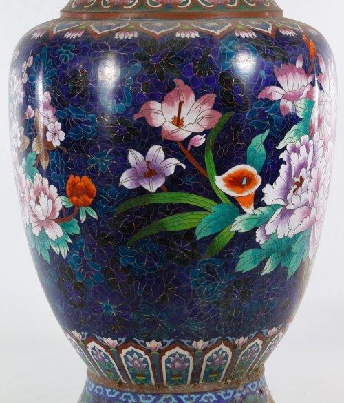 Asian Cloisonne Vases - 10