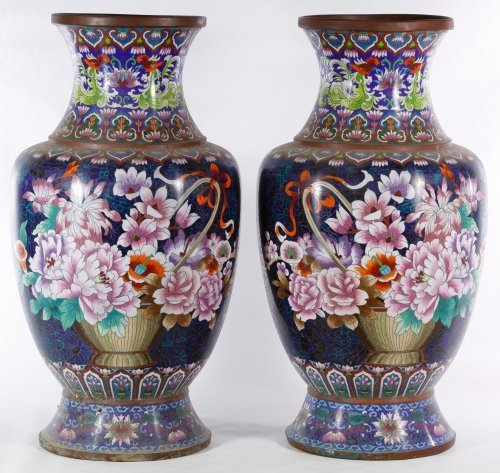 Asian Cloisonne Vases - 2
