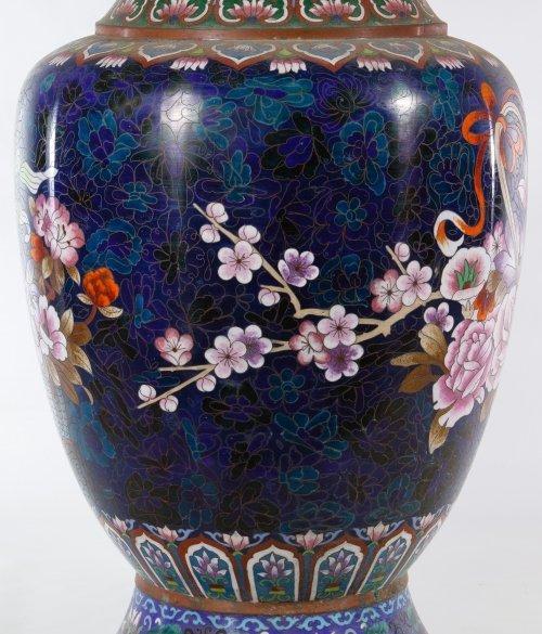 Asian Cloisonne Vases - 4