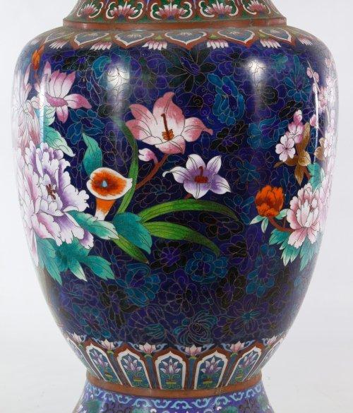 Asian Cloisonne Vases - 6
