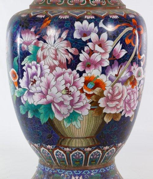Asian Cloisonne Vases - 7