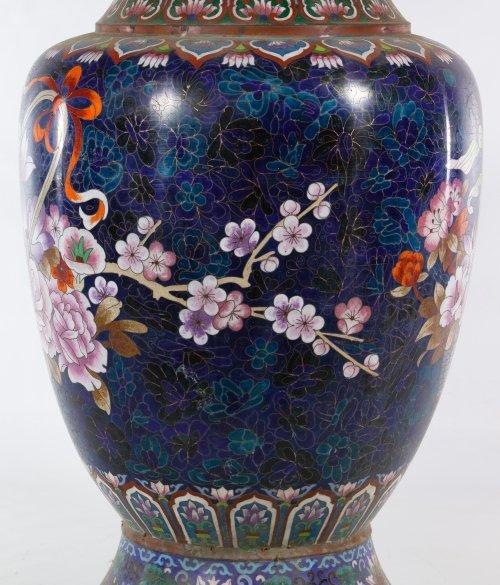 Asian Cloisonne Vases - 8