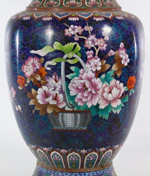 Asian Cloisonne Vases - 9