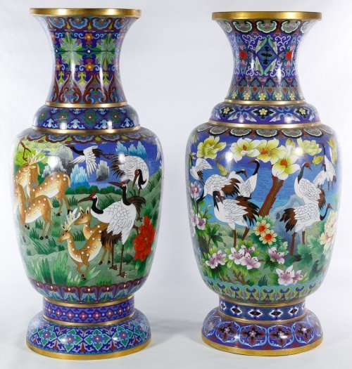 Asian Cloisonne Vases