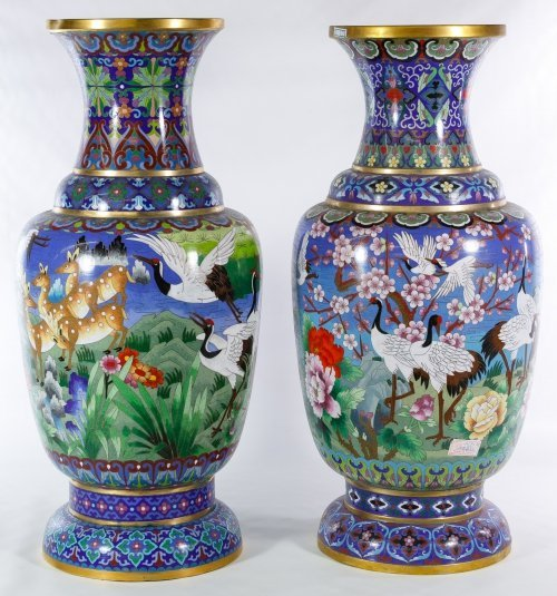 Asian Cloisonne Vases - 2