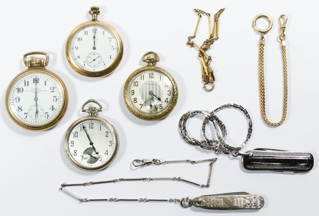 Gold Filled Open Face Case Pocket Watch Assortment