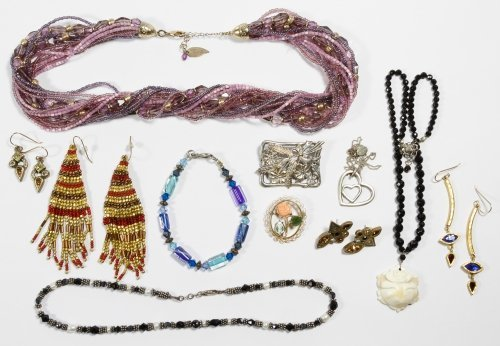 Signed Costume and Sterling Silver Jewelry Assortment