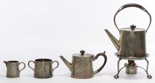 Hukin and Heath Silverplate Tea Service - 2