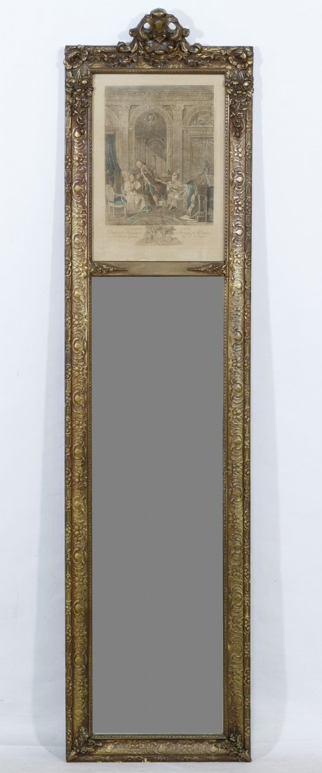 Rococo Style Trumeau Wall Mirror