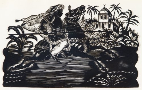 Unknown Artist (German, 19th Century) 'Hussar Warrior' - 2